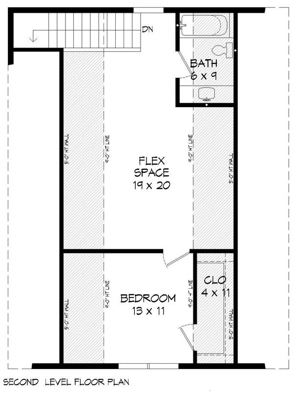 House Plan Design - Cabin Floor Plan - Upper Floor Plan #932-214