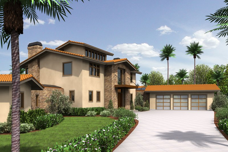 Modern Exterior - Front Elevation Plan #48-468 - Houseplans.com