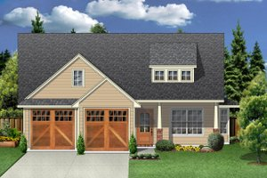 Craftsman Exterior - Front Elevation Plan #84-451