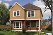 Craftsman Style House Plan - 3 Beds 2.5 Baths 1851 Sq/Ft Plan #48-631 Exterior - Rear Elevation