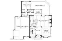 European Floor Plan - Main Floor Plan Plan #413-108