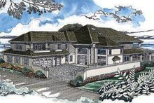 House Blueprint - Prairie Exterior - Front Elevation Plan #47-321