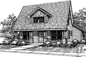Cottage Exterior - Front Elevation Plan #124-306