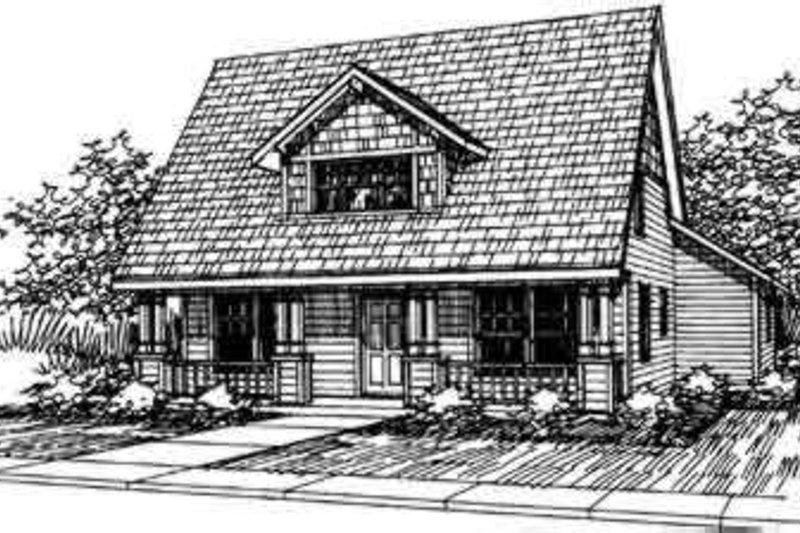 Cottage Exterior - Front Elevation Plan #124-306