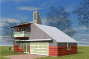 Farmhouse Style House Plan - 1 Beds 1 Baths 1157 Sq/Ft Plan #450-2 Exterior - Other Elevation