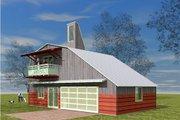 Farmhouse Style House Plan - 1 Beds 1 Baths 1157 Sq/Ft Plan #450-2