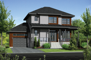 Contemporary Style House Plan - 3 Beds 1 Baths 1686 Sq/Ft Plan #25-4373 Exterior - Front Elevation