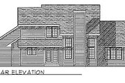 Traditional Style House Plan - 3 Beds 2.5 Baths 1900 Sq/Ft Plan #70-234 Exterior - Rear Elevation