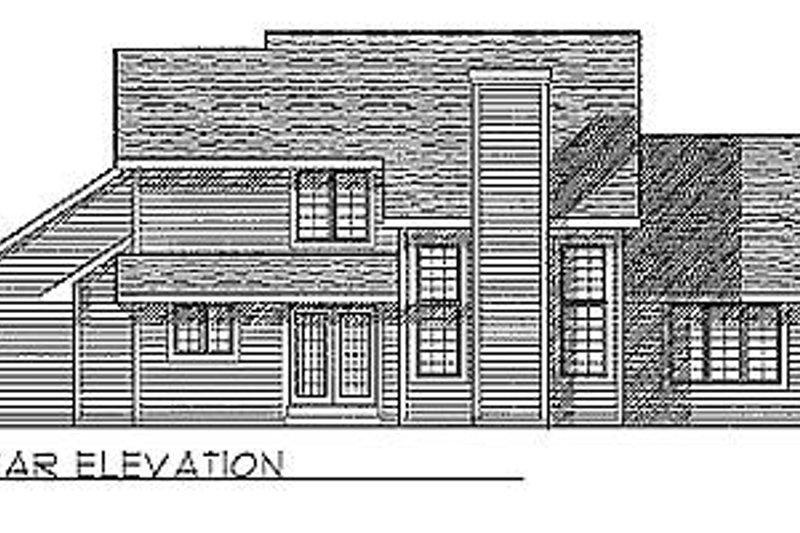 Traditional Exterior - Rear Elevation Plan #70-234 - Houseplans.com