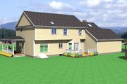 Farmhouse Style House Plan - 4 Beds 2.5 Baths 2787 Sq/Ft Plan #75-102 Exterior - Rear Elevation