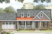 Country Style House Plan - 3 Beds 2 Baths 2133 Sq/Ft Plan #424-180 Exterior - Front Elevation