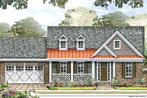 Country Exterior - Front Elevation Plan #424-180