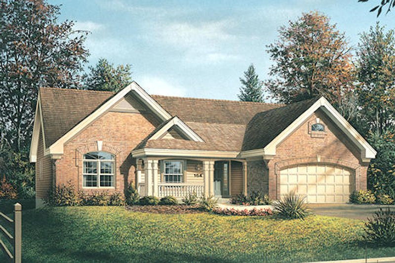 Traditional Exterior - Front Elevation Plan #57-369 - Houseplans.com
