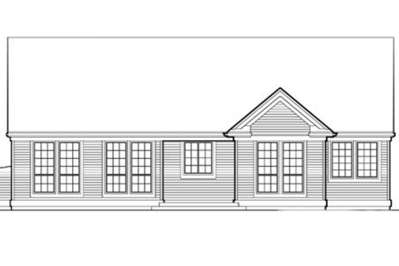Traditional Exterior - Rear Elevation Plan #48-124 - Houseplans.com
