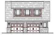 Craftsman Style House Plan - 1 Beds 1 Baths 727 Sq/Ft Plan #487-4 Exterior - Front Elevation