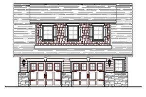 Craftsman Exterior - Front Elevation Plan #487-4