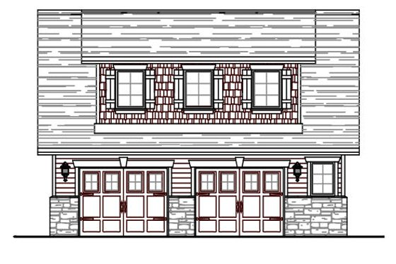 Craftsman Exterior - Front Elevation Plan #487-4