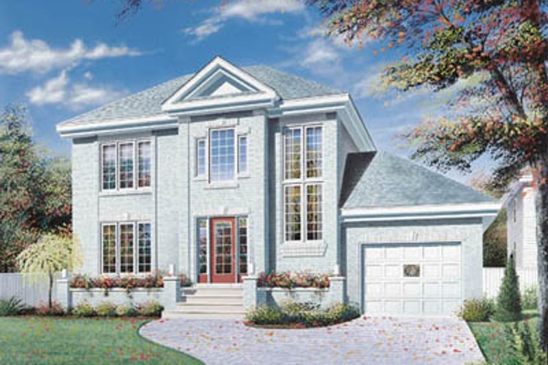 Exterior - Front Elevation Plan #23-2124