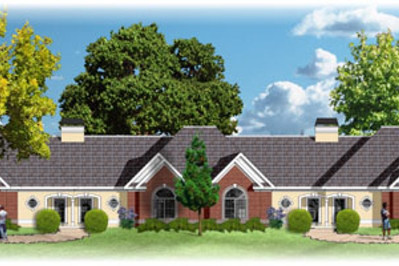 Traditional Style House Plan - 3 Beds 2 Baths 8228 Sq/Ft Plan #26-140 Exterior - Front Elevation