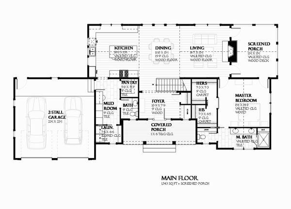 Ranch Floor Plan - Main Floor Plan #901-128