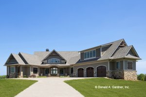 Architectural House Design - Ranch Exterior - Front Elevation Plan #929-655