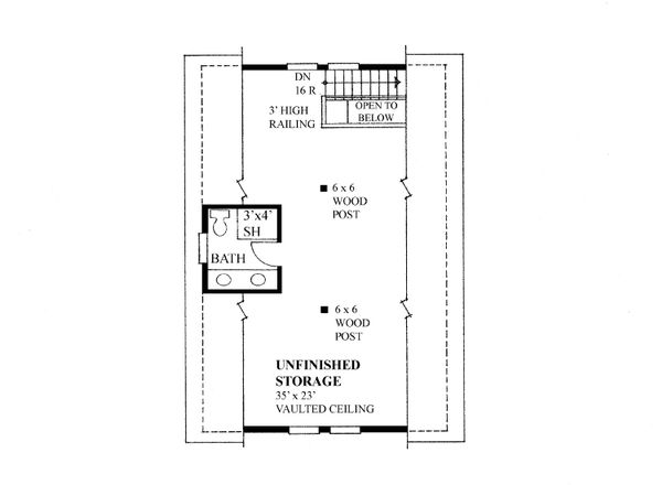 Traditional Floor Plan - Upper Floor Plan Plan #118-177