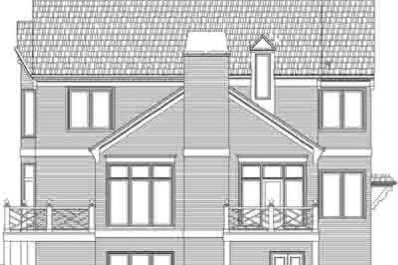 European Exterior - Rear Elevation Plan #119-218 - Houseplans.com