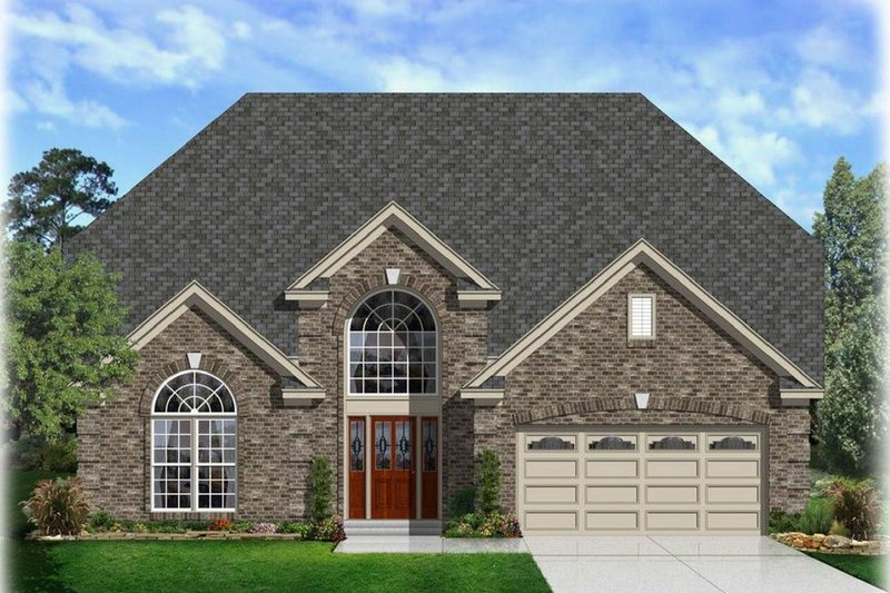 House Plan - 4 Beds 2.5 Baths 2516 Sq/Ft Plan #329-346 Exterior - Front Elevation