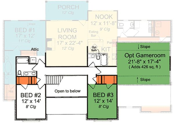 Cottage Floor Plan - Upper Floor Plan Plan #513-2059