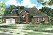 European Style House Plan - 4 Beds 2 Baths 2319 Sq/Ft Plan #17-128 Exterior - Front Elevation