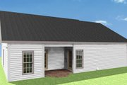 Country Style House Plan - 2 Beds 2 Baths 1152 Sq/Ft Plan #44-159 Exterior - Rear Elevation
