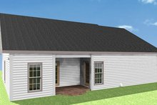 Country Exterior - Rear Elevation Plan #44-159