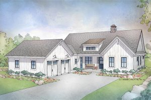 Architectural House Design - Farmhouse Exterior - Front Elevation Plan #928-303