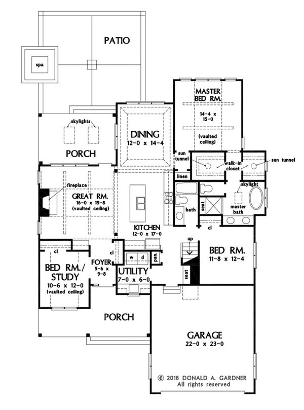 Architectural House Design - Country Floor Plan - Main Floor Plan #929-1076