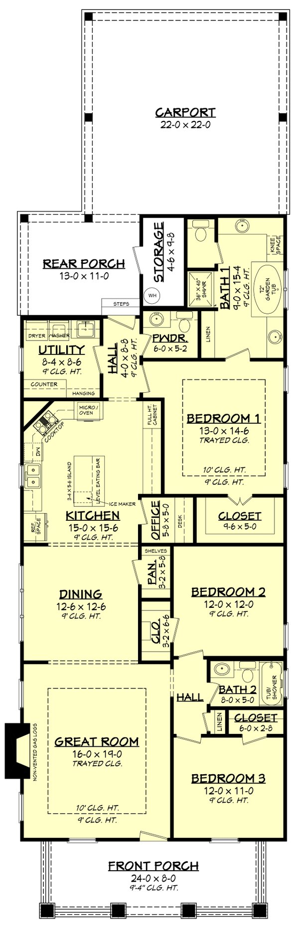 House Plan Design - Craftsman Floor Plan - Main Floor Plan #430-79