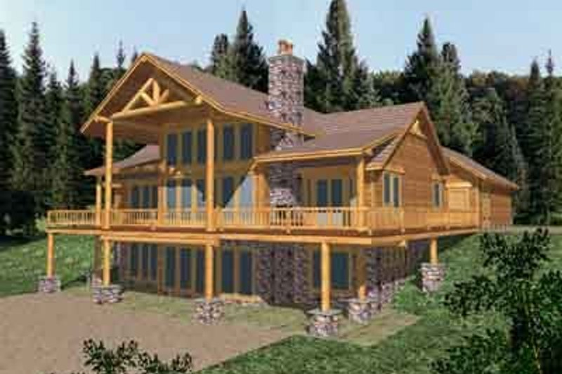 Modern Exterior - Rear Elevation Plan #117-268 - Houseplans.com