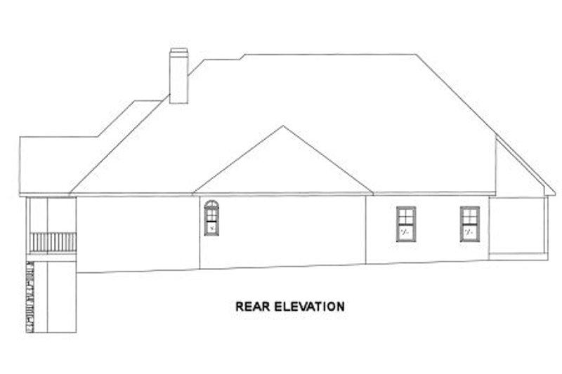 Traditional Exterior - Rear Elevation Plan #437-45 - Houseplans.com