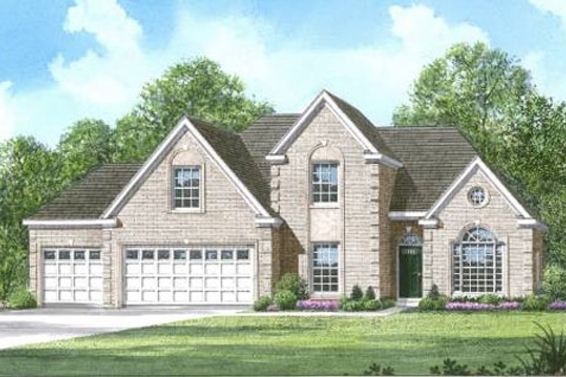 Traditional Style House Plan - 4 Beds 3 Baths 2315 Sq/Ft Plan #424-147 Exterior - Front Elevation