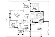 Traditional Style House Plan - 4 Beds 3.5 Baths 3500 Sq/Ft Plan #51-470 Floor Plan - Main Floor Plan