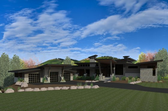 Modern Exterior - Front Elevation Plan #920-89