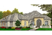 Dream House Plan - European Exterior - Front Elevation Plan #310-660