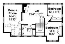 Craftsman Floor Plan - Upper Floor Plan Plan #124-880