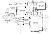 Country Style House Plan - 4 Beds 3.5 Baths 2961 Sq/Ft Plan #80-180 Floor Plan - Main Floor Plan