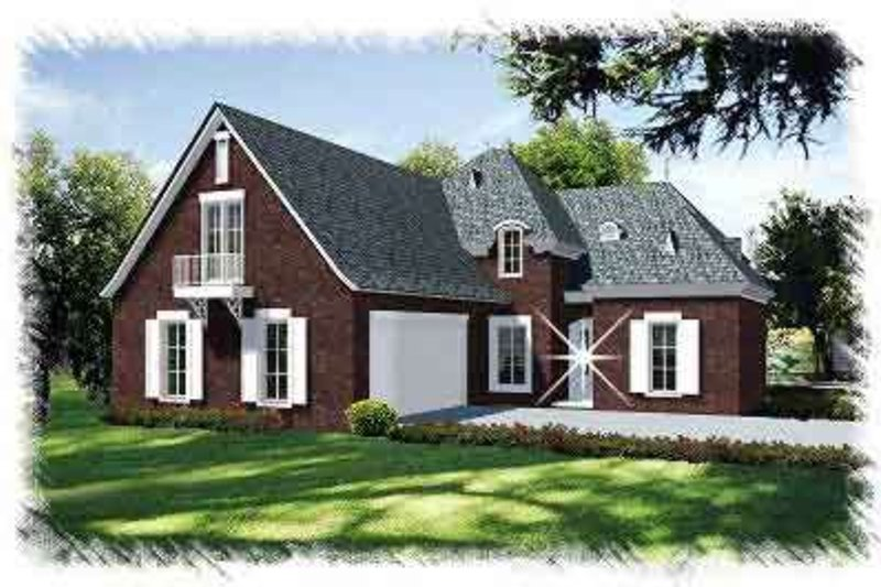 European Exterior - Front Elevation Plan #15-289