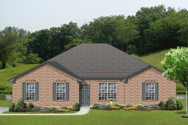 Traditional Exterior - Front Elevation Plan #84-604 - Houseplans.com