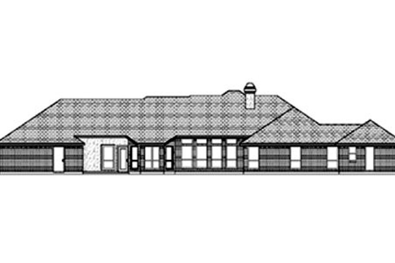 Traditional Exterior - Rear Elevation Plan #84-379 - Houseplans.com