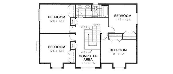Country Floor Plan - Upper Floor Plan Plan #18-4460