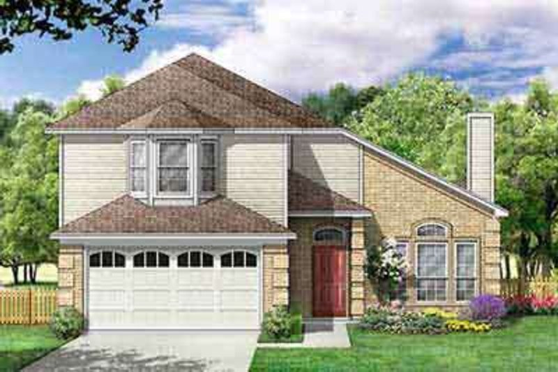 Traditional Exterior - Front Elevation Plan #84-212 - Houseplans.com