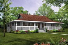 House Plan Design - Farmhouse Exterior - Front Elevation Plan #47-648