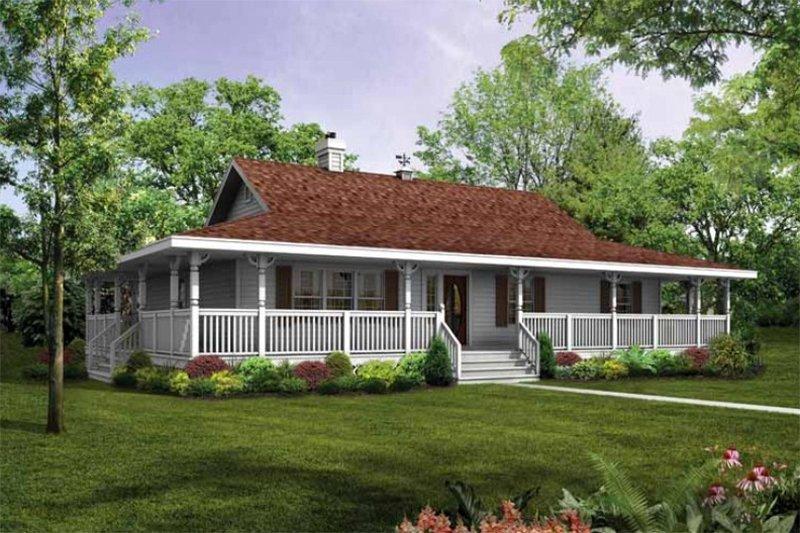 House Blueprint - Farmhouse Exterior - Front Elevation Plan #47-648